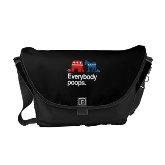 EVERYBODY POOPS POLITICAL png Commuter Bag