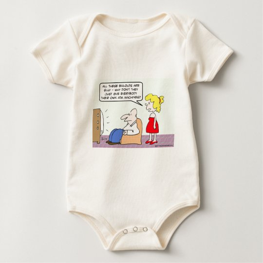 Everybody should have own ATM machine! Baby Bodysuit