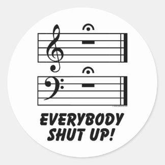 Everybody Shut Up! Classic Round Sticker