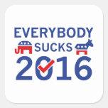 Everybody Sucks 2016 Square Sticker