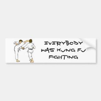 everybody was kung fu fighting bumper sticker