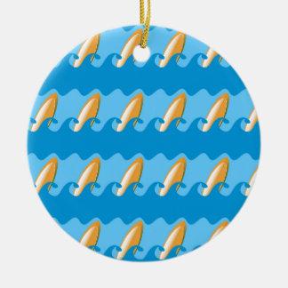 Everybody's Gone Surfin Ceramic Ornament