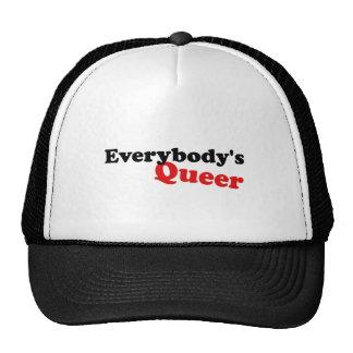 Everybody's Queer, Black Lettering Trucker Hat