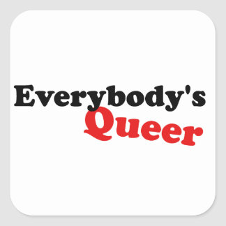 Everybody's Queer Square Sticker