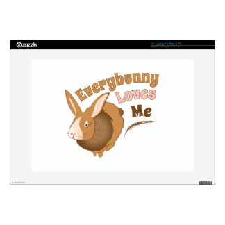 """Everybunny Loves Me Decal For 15"""" Laptop"""