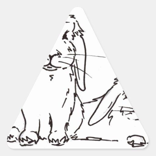 Everybunny necesita somebunny amar pegatinas trianguladas personalizadas
