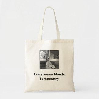Everybunny Needs Somebunny Budget Tote Bag