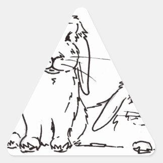 Everybunny needs somebunny to love triangle sticker