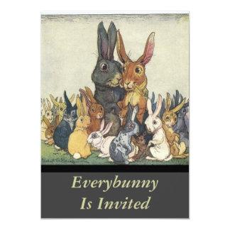 Everybunny Vintage Invitation