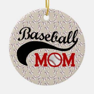 Everyday Baseball Mom Sporty Ceramic Ornament