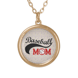 Everyday Baseball Mom Sporty Gold Plated Necklace