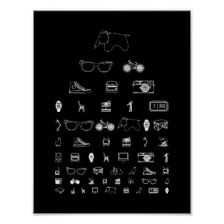 Everyday - black poster