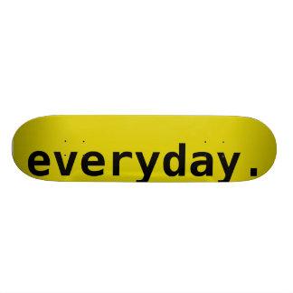 Everyday Blank, Yellow Skateboard Deck