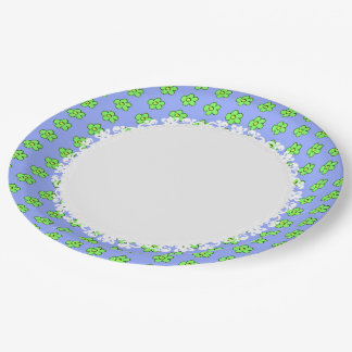 Everyday-Daisy-Dinner-Ware(c) Blue-Lime Paper Plate
