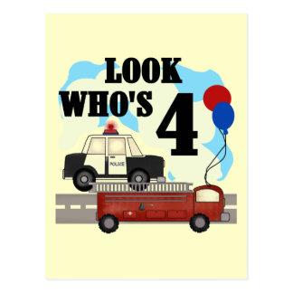 Everyday Heroes 4th Birthday Postcard