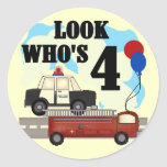 Everyday Heroes 4th Birthday Stickers