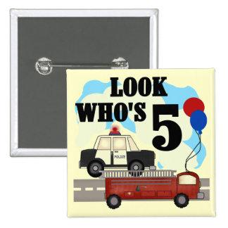 Everyday Heroes 5th Birthday Tshirts Pinback Button