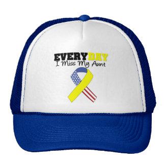 Everyday I Miss My Aunt Military Trucker Hat