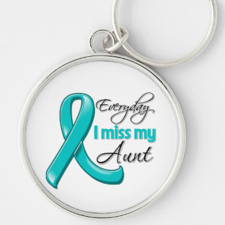 Everyday I Miss My Aunt Ovarian Cancer Key Chains