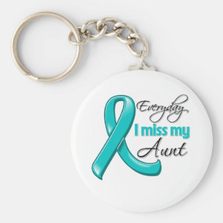 Everyday I Miss My Aunt Ovarian Cancer Keychain