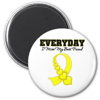 Everyday I Miss My Best Friend Military 2 Inch Round Magnet