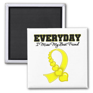 Everyday I Miss My Best Friend Military 2 Inch Square Magnet