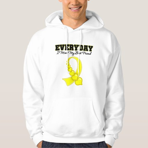 Everyday I Miss My Best Friend Military Hooded Pullovers