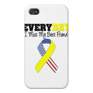 Everyday I Miss My Best Friend Military iPhone 4/4S Covers