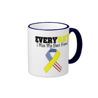 Everyday I Miss My Best Friend Military Ringer Mug