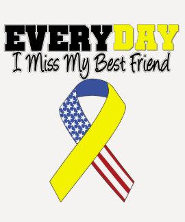 Everyday I Miss My Best Friend Military Shirt