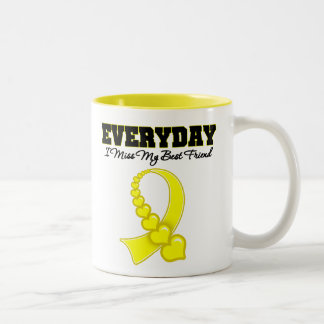 Everyday I Miss My Best Friend Military Two-Tone Coffee Mug