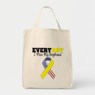 Everyday I Miss My Boyfriend Military Tote Bags