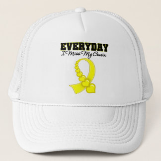 Everyday I Miss My Cousin Military Trucker Hat