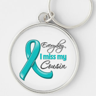 Everyday I Miss My Cousin Ovarian Cancer Keychains