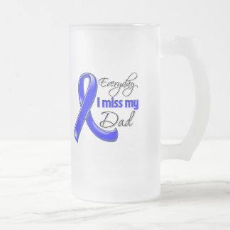 Everyday I Miss My Dad Colon Cancer 16 Oz Frosted Glass Beer Mug