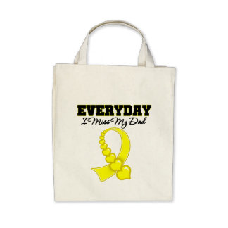 Everyday I Miss My Dad Military Tote Bags