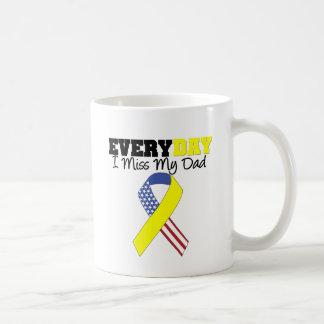 Everyday I Miss My Dad Military Classic White Coffee Mug