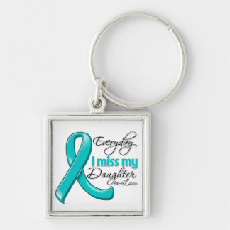 Everyday I Miss My Daughter-in-Law Ovarian Cancer Keychains