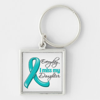 Everyday I Miss My Daughter Ovarian Cancer Keychain