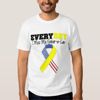 Everyday I Miss My Father-in-Law Military Tee Shirt