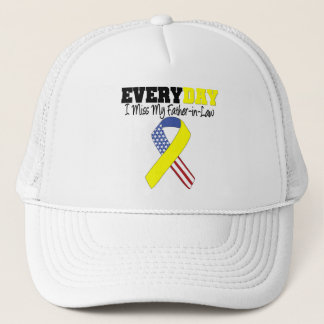 Everyday I Miss My Father-in-Law Military Trucker Hat