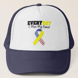 Everyday I Miss My Fiancé Military Trucker Hat