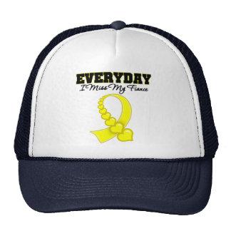 Everyday I Miss My Fiance Military Trucker Hat