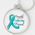 Everyday I Miss My Friend Ovarian Cancer Keychains