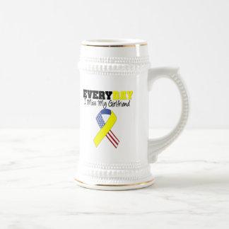 Everyday I Miss My Girlfriend Military Beer Stein