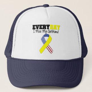 Everyday I Miss My Girlfriend Military Trucker Hat