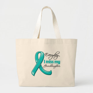 Everyday I Miss My Granddaughter Ovarian Cancer Canvas Bags