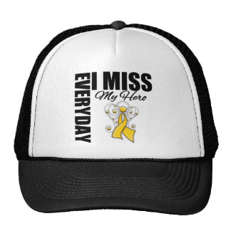 Everyday I Miss My Hero Childhood Cancer Trucker Hat