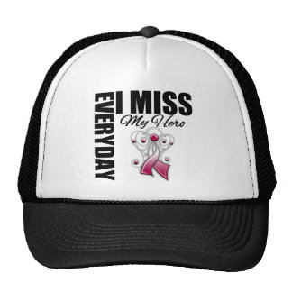 Everyday I Miss My Hero Head Neck Cancer Hat
