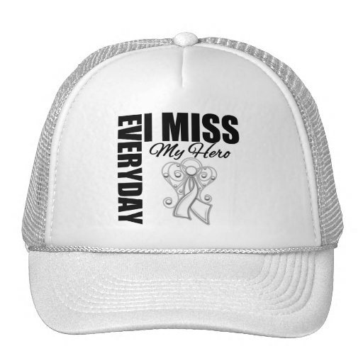 Everyday I Miss My Hero Lung Cancer Trucker Hat